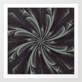 Out of the Darkness Fractal Bloom Art Print