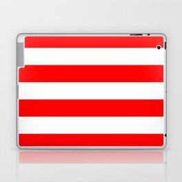 Australian Flag Red and White Wide Horizontal Cabana Tent Stripe Laptop & iPad Skin