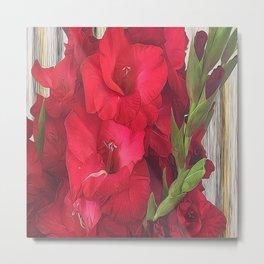 Red Gladiolas Metal Print