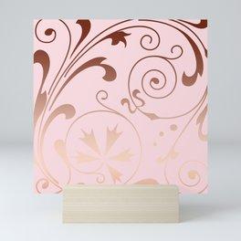 Rose Quartz Gold Komingo Mini Art Print