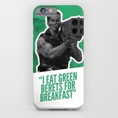 Badass 80's Action Movie Quotes - Commando Slim Case iPhone 6s