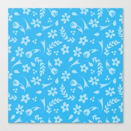 Macy - light blue Canvas Print