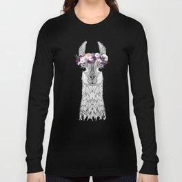 FLOWER GIRL ALPACA Long Sleeve T-shirt