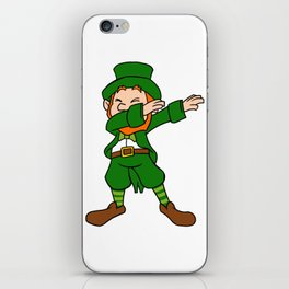 Funny Dabbing Leprechaun St Patricks Day iPhone Skin
