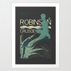 Books Collection: Robinson Crusoe Art Print