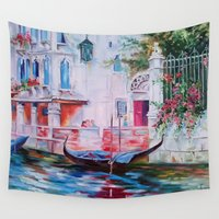 venice Wall Tapestries featuring Venice by OLHADARCHUK
