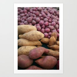 Farmer's Market Sweet Potatoes Art Print