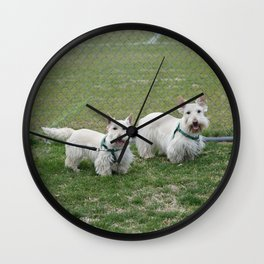 Dog by Jeffrey F Lin Wall Clock