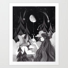 Moonmilk Art Print