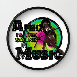 Afro Is The Sound In Music Wall Clock