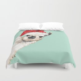 Christmas Sneaky Llama Duvet Cover