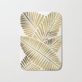 Tropical Banana Leaves – Gold Palette Bath Mat