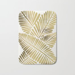 Tropical Banana Leaves – Gold Palette Bath Mat