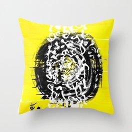 yellow_01 Throw Pillow