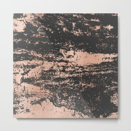 Marble Black Rose Gold - Dope Metal Print