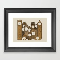 Points in time Framed Art Print