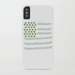 USA Weed Flag American Flag Weed T-Shirt Funny 4:20 Shirt iPhone Case