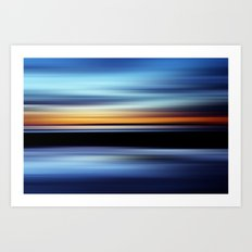 Seaside Abstract Art Print