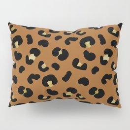 Rust Leopard - jumbo leopard print gold and copper Pillow Sham