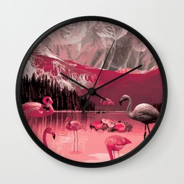 Flamingo Land Wall Clock