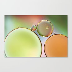 Oil On Water Edged With Gold Canvas Print