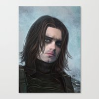 the winter soldier Canvas Prints featuring Winter Soldier by Slugette