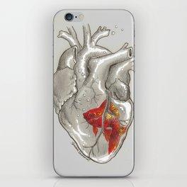 Goldfish in a Glass Heart iPhone Skin