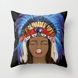 Native Inhale Throw Pillow