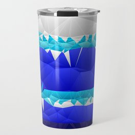 Nautical Inspired Quilted Pattern Design Travel Mug