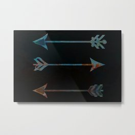 arrow minded texturized Metal Print