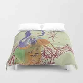 Badly Drawn Ballet (Pt. 5) on Strathmore Labeled Paper Duvet Cover