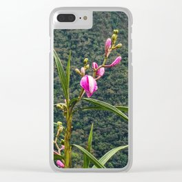 Wild Orchid Buds Clear iPhone Case