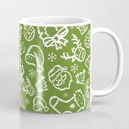 XMAS Green Pattern / Part Two Coffee Mug