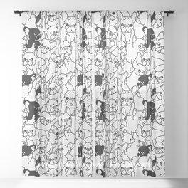 Oh French Bulldog Sheer Curtain