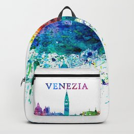 Venezia Italy Skyline Silhouette Impressionistic Blast Backpack