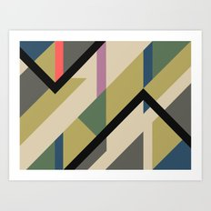 Modernist Dazzle Ship Camouflage Design Art Print
