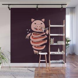 Gluttonous Cannibal Pig Wall Mural