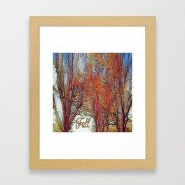 Fall Brilliance Framed Art Print