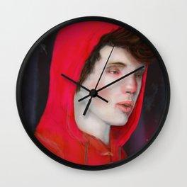 A Red Night Wall Clock