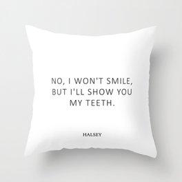 Nightmare - Feminism Quote - Smile Throw Pillow