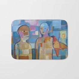 Couple with Bird Bath Mat