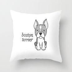 Dog Breeds: Boston Terrier Throw Pillow