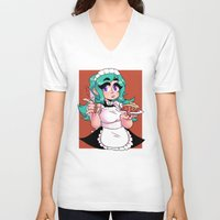 pie V-neck T-shirts featuring pie by Aleksander Cacic