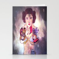 princess leia Stationery Cards featuring Leia by Artistic