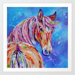 Cinnamon - Palamino Horse Art Art Print
