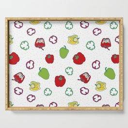 Bell fruit seamless pattern Serving Tray