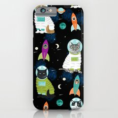 Space Cats pet portraits cute cat gifts cat lady outer space cadet rockets Slim Case iPhone 6s