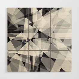 black and white multipolygon Wood Wall Art