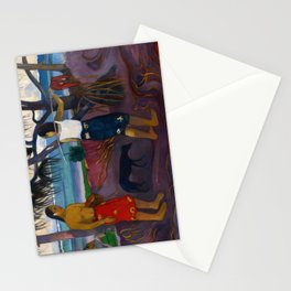 Under the Pandanus by Paul Gauguin Stationery Cards