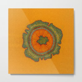 Growing -Taxus - plant cell embroidery Metal Print